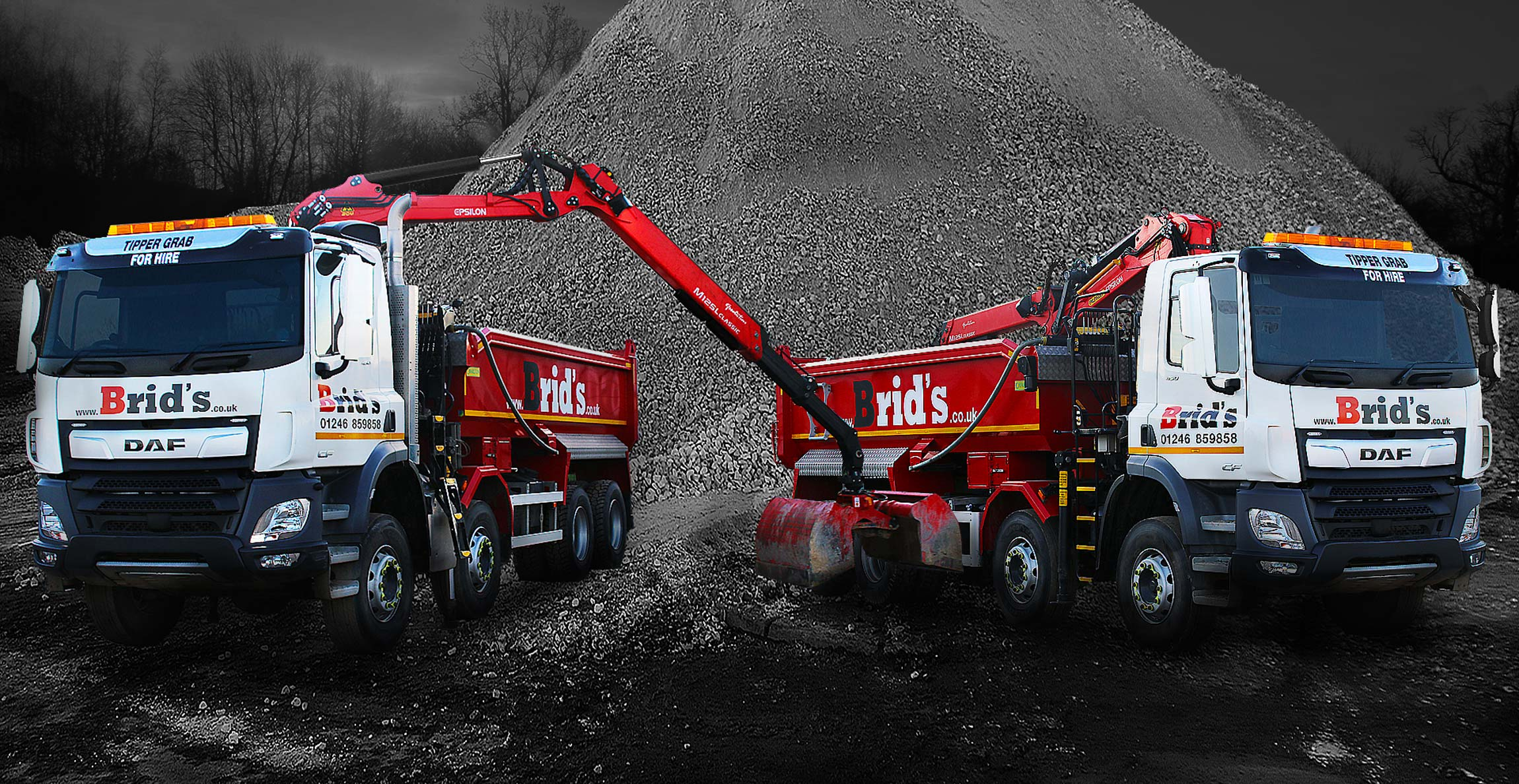 Grab Hire Tipper Hire Hiab Crane Lorry Hire Beavertail Flatbed Hire