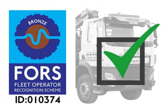 FORS Accreditation Grab Hire Tipper Hire